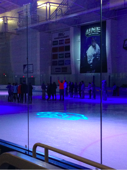 On ice games hosted by APB during the Big Blue Bang