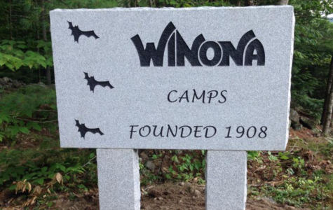 The Winona Sign, located besides the farmhouse on the camp road.