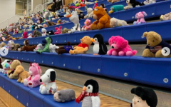 The Forum Bleachers packed with Teddys in attendence for the game.